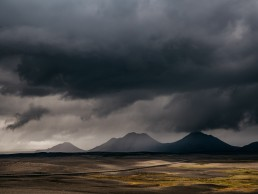 Iceland storm clouds