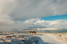 Orkney snow view