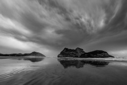 Wharariki Beach Black and White
