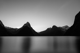 Milford Sound Sunset B&W