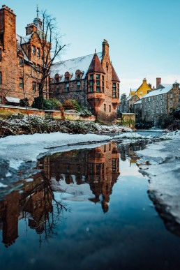 Dean Village in the Snow
