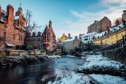 Dean Village in the Snow Edinburgh